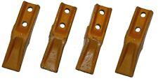 4x Baggerzähne Löffelzahn Baggerzahn Schaufelzahn Flachzahn Lochabstand 45mm