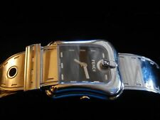 Ladies' Fendi Orologi Stainless Black Dial Buckle Belt Quartz Watch $900  L3100