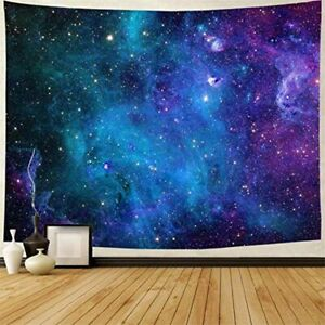 Galaxy Print Tapestry Art Wall Hanging Milky Way Colorful Home Blanket Wall Deco