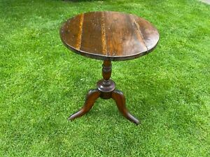 Small Oak Tripod Table with 48cm round top