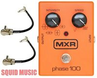 MXR M107 Phase 100 Guitar Effects Pedal 10 Stages Phase ( 2 MXR PATCH CABLES )