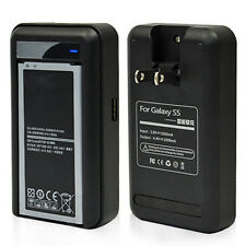 Dual Phone & Battery Charger Dock US Wall Charger for Samsung Galaxy S5 i9600