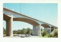 NEW 20TH CENTURY BRIDGE, WHITEWATER RIVER, RICHMOND, INDIANA CHROME POSTCARD