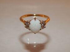 Large Natural Australian OPAL Engagement Designer Ring 2.45 tcw Diamond 14k YG