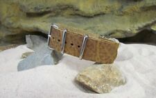 The Genuine Leather Strap w/ Polished Hardware By NATO Strap Co.(℠)