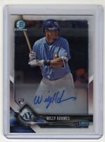 Willy Adames 2018 Bowman Chrome Rookie Autograph Card (Tampa Bay Rays)