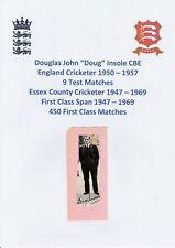 DOUG INSOLE ENGLAND CRICKETER 1950-1957 RARE ORIGINAL AUTOGRAPH ANNUAL CUTTING