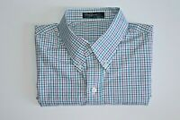Men's Perfect Tailor Made By Ada Check Short Sleeve Shirt Size M