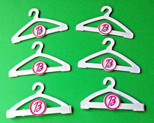 Barbie Clothes Hangers LOT Genuine Barbie Mattel  Plastic Lot of 6