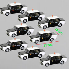 10PCS Model Police Cars 1:100 TT HO Scale for Building Railway Train Scenery NEW