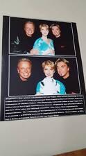 Celine Dion w/Las Vegas Magicians Siegfried & Roy 8x10 glossy photo RARE