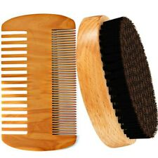 Beard Brush - Mustache Brush - Hair Brush - Boar Hair Bristle -  Beard Comb