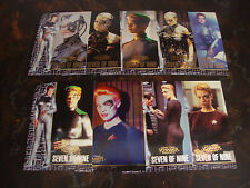1998 Skybox--Star Trek Voyager--Profiles--Seven Of Nine--Complete Set 1-9---XHTF