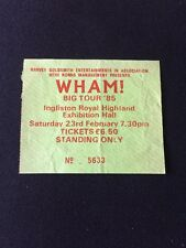 ❤️VERY RARE TICKET STUB❤️Big Tour '85~Wham! (George Michael)