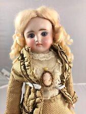 "11"" Antique German Bisque Shoulder Head Fashion Doll! Elegant! 17731"