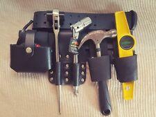 BBI Scaffold Strong Black Leather Tool Set Belt + 4PCS ScaffoldingTools Included