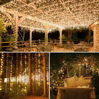 Outdoor Solar Powered 33Ft 100 LED 10M Copper Wire Light String Fairy Xmas Decor