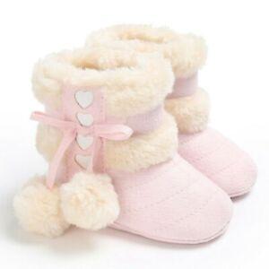 Crib Shoes Baby Warm Boots Winter Boots Girls Newborn Soft Sole 0-18M Kids Snow
