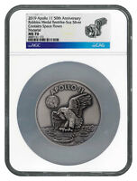 1969-2019 Apollo 11 50th Robbins Medals 5 oz Silver with Alloy NGC MS70 SKU56031