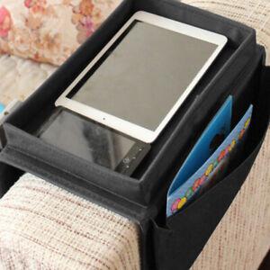 Universal Sofa Arm Rest Organiser w/ 6 Pockets Remote Snack Tray Storage Rack AU