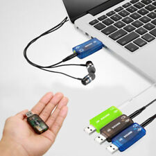 USB5.1 to 3.5mm mic headphone Jack Stereo Headset 3D Sound Card Audio Adapter UK