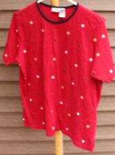Woman's Red T-Shirt by Cabin Creek; Size:  Large