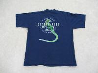 VINTAGE Doors Shirt Adult Extra Large Blue Lizard King Jim Morrison Concert Mens