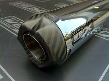 Suzuki GSXR 1000 K7 K8 De-Cat,Stainless Steel GP, Carbon Outlet Race Exhaust Can