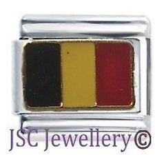 BELGIUM FLAG - Daisy Charms by JSC Fits Classic Size Italian Charm Bracelet