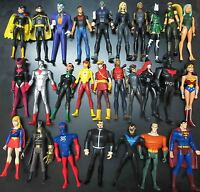 "LOT OF 27 DC UNIVERSE YOUNG JUSTICE JLU  SUPERMAN ROBIN .. ACTION FIGURE 4"" #GS3"