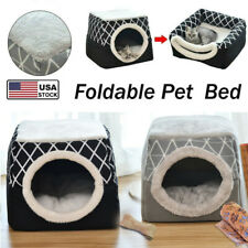 Cat Bed House Cave Puppy Sleeping Mat Pad Nest Blanket L/Xl Comfortable Pet Mat