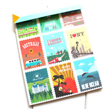 TRAVEL DECO STICKERS 12 SHEETS Craft Paper Places City Cards Holiday Scrapbook