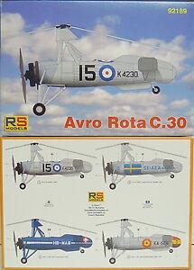 Avro Rota C.30 , RS- Models, 1:72, RAF,Schweiz,Spanien,Schweden, Neu