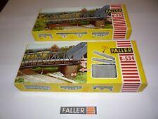 stazione ferroviaria marciapiedi ponte pedonale Faller 190066 h0 azione-SET STAZIONE FERROVIARIA duningen