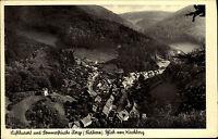 Zorge Südharz alte Ansichtskarte 1951 Panorama Blick vom Kirchberg ins Tal Wald