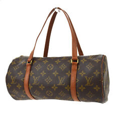AUTH LOUIS VUITTON PAPILLON 30 HAND BAG MONOGRAM LEATHER BROWN M51365 07A922