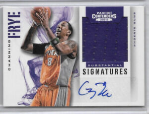 Channing Frye 2012-13 Panini Contenders Auto Autograph Jersey /149 Phoenix Suns