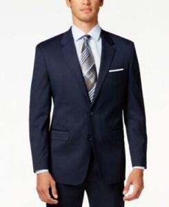 Alfani Traveler Navy Solid Classic-Fit Jacket Blazer Blue Mens 40L 40 $360