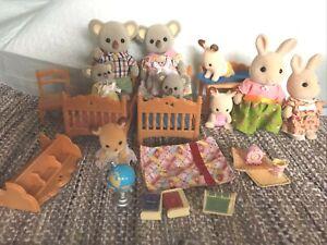Calico Critters Koala Family, Rabbits, Furniture, More