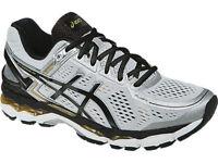Asics GEL - Kayano 22 Men's Running Shoes Silver/Black/Gold Size 8 New!