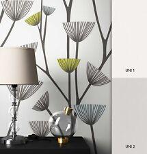 NEWROOM Blumentapete Vliestapete Blau Natur Äste Floral Grau Graik 3D