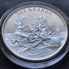 2020 THE KRAKEN 1 oz 999 Silver High Relief Folklore Sea Monster Ship Bigfoot