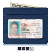Credit Card Holder Slim Wallet Credit Card Case Sleeve with ID Window