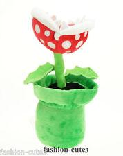 "New Super Mario Bros. Brothers Piranha Plant Flower Plush Toy Stuffed Doll 9"""