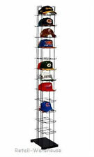 "72 Hats Cap Hat Rack 12-Tier Baseball Tower Black Floor Standing Display 78"" H"
