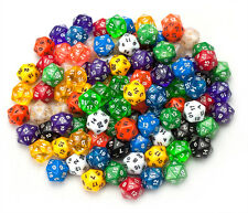 25x NEW D20 Sided Wiz Dice Mixed Styles Lot