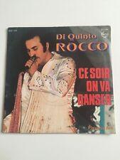 Ref1112 Vinyle 45 Tours Di Quinto Rocco Ce Soir On Va Danser