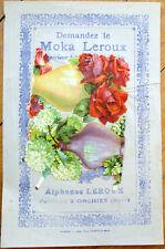 1900 Chicoree/Moka Advertising w/Victorian Diecut Scrap: Vases of Flowers - 15