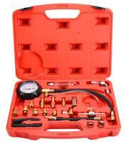 0-140PSI Fuel Injection Pump Pressure Injector Tester Test Pressure Gauge Kit US
