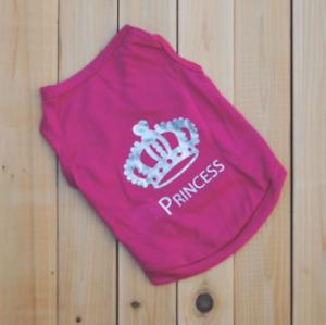 Pink Princess  Dog T-Shirt Small Dog Shirt Cat Shirt Dog Clothes Small Dog Shirt